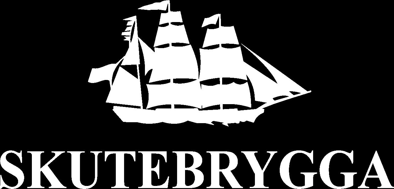 Skutebrygga hvit logo